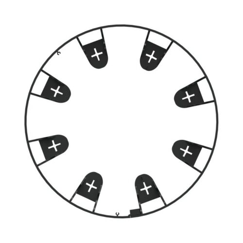 Kantoplsuiting zwart flexibel 1 meter