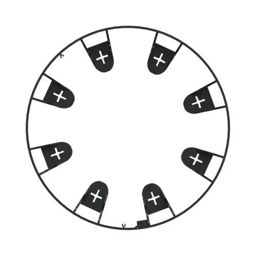 Kantopsluiting zwart 4x 1 meter met 16 montagepinnen