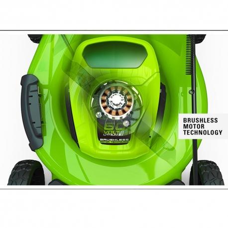 Greenworks 60 volt accu grasmaaier 46 cm incl. 2 x 60 volt 2 Ah + 60 volt lader