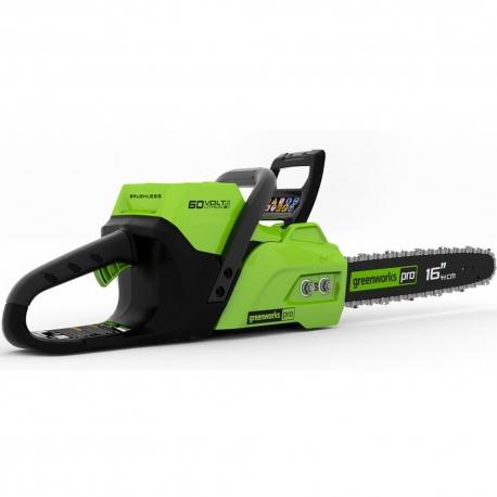 Greenworks60 volt accu kettingzaag 40 cm incl. 2 x 60 volt 2 Ah + 60 volt lader