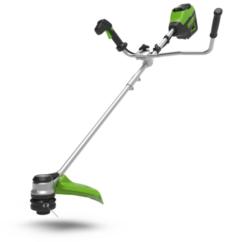 Greenworks 60 volt accu trimmer, 40 cm met stuurboom incl. 60 volt 2 Ah + 60 volt lader
