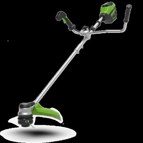 Greenworks60 volt accu trimmer, 40 cm met stuurboom incl. 60 volt 4 Ah + 60 volt lader