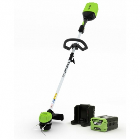 Greenworks60 volt accu trimmer, 40 cm instelbare snijbreedte Digipro incl. 60 volt 4 Ah + 60 volt lader
