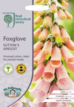 RHS zaden Foxglove Suttons Apricot