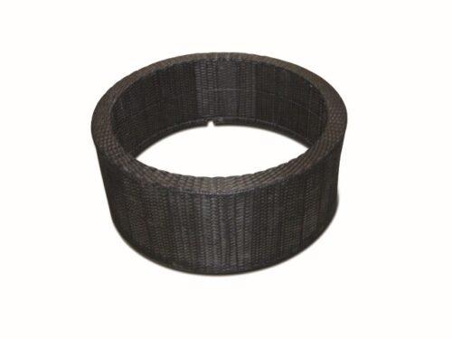 DecoWall Wicker II ronde omranding zwart voor container 150l