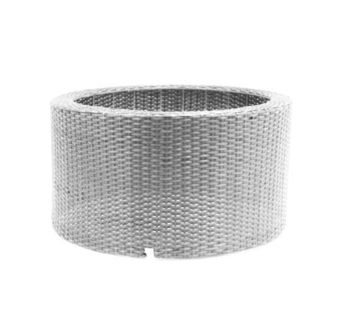 DecoWall Wicker VII ronde omranding grijs voor container 90l
