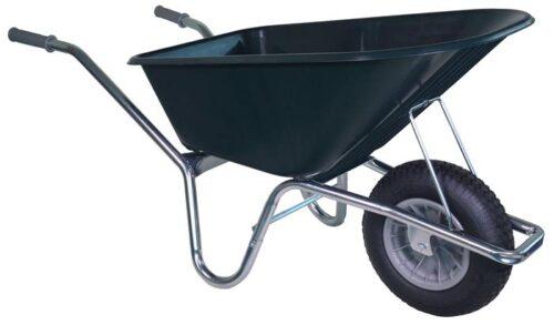 Tuin kruiwagen verzinkt frame 100 L groen
