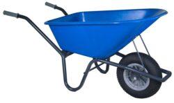 Tuin kruiwagen gecoat frame 100 L blauw