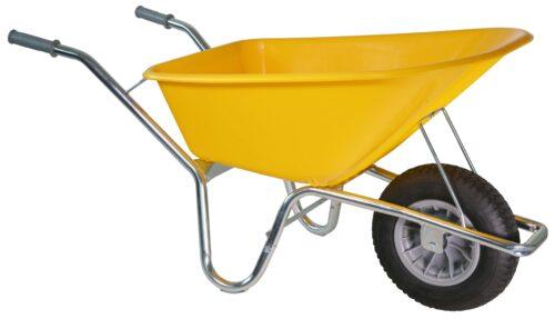 Bouwkruiwagen Basic HDPE 100 L geel