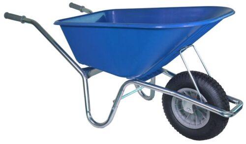 Tuin kruiwagen verzinkt frame 100 L blauw