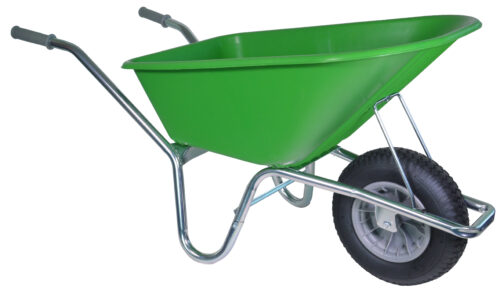 Tuin kruiwagen verzinkt frame 100 L limegroen