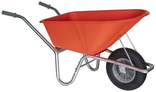 Tuin kruiwagen verzinkt frame 100 L oranje