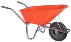 Tuin kruiwagen verzinkt frame 100 L oranje softwiel