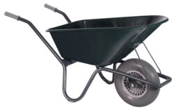 H1P200GRSW 8717931458979 Tuin kruiwagen gecoat frame 100 L groen softwiel