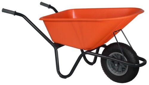 Tuin kruiwagen gecoat frame 100 L oranje