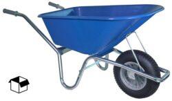 Tuin kruiwagen verzinkt frame 100 L blauw DOOS