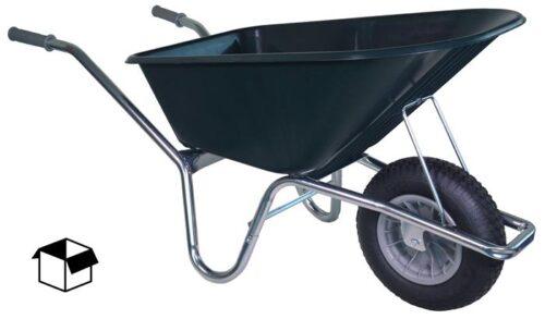 Tuin kruiwagen verzinkt frame 100 L groen DOOS