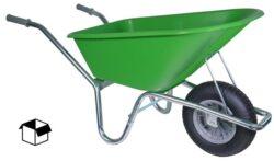 Tuin kruiwagen verzinkt frame 100 L limegroen DOOS