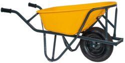 Kruiwagen HDPE 90 L stratenmakers geel