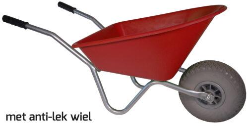 Kinderkruiwagen 35 L rood softwiel DOOS