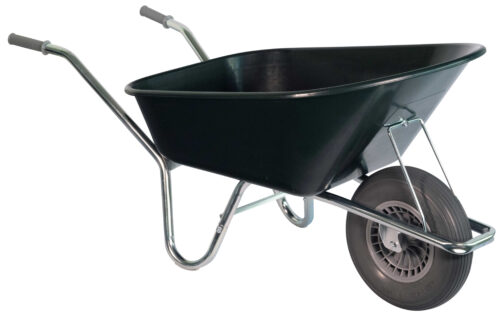 Stal kruiwagen groen 130 L softwiel