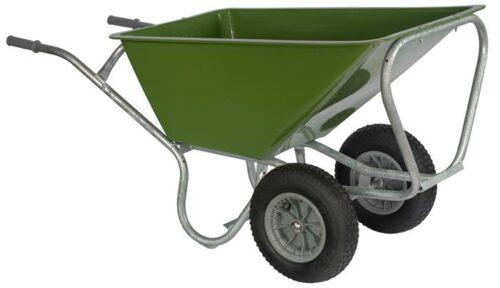 Stal kruiwagen groen PRO 160 L 2 wiel