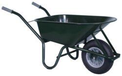 Bouw kruiwagen staal 85 L groen