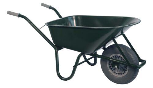 Bouw kruiwagen staal 85 L groen softwiel