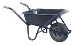 Bouw kruiwagen staal 85 L softwiel