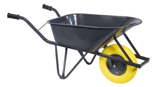 Bouw kruiwagen staal 85 L ovale buis softwiel