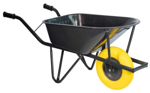 Bouw kruiwagen staal 85 L ovale buis verzwaard softwiel