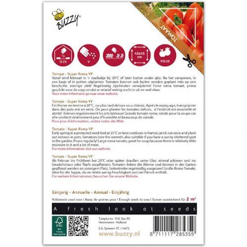 Buzzy Pomodori Tomaat - Super Roma