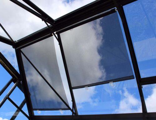 zonnescherm tuinkas