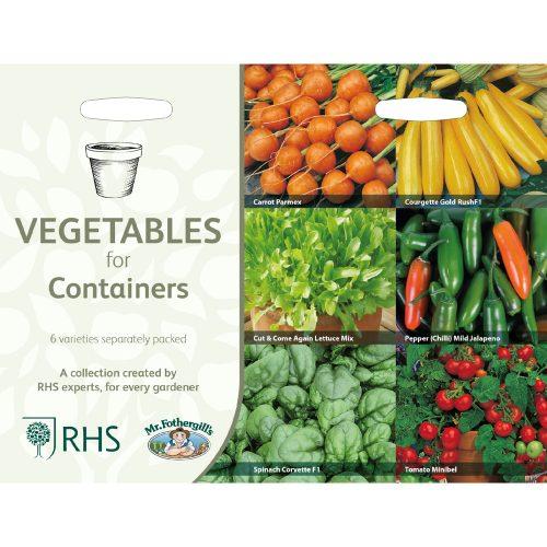 collectie groenten voor potten