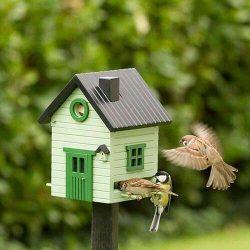 multiholk lichtgroen wildlife garden nestkastje voederhuisje