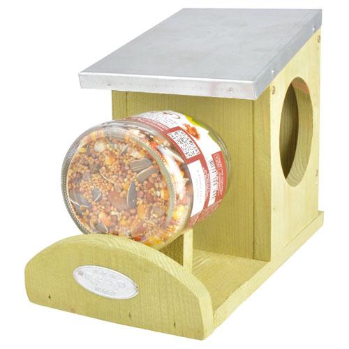 Pindakaaspot voor eekhoorn, 2 stuks