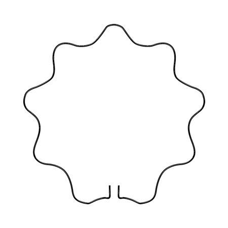 steunring rond geschulpt (3 stuks)