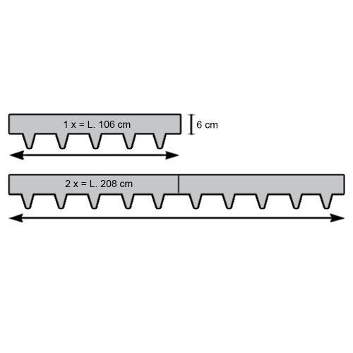 Kantopsluiting MA Edge verzinkt 6(10) x 106 cm