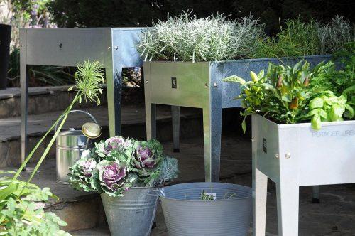 Planttafel Urban verzinkt 100 x 40 x 84 cm