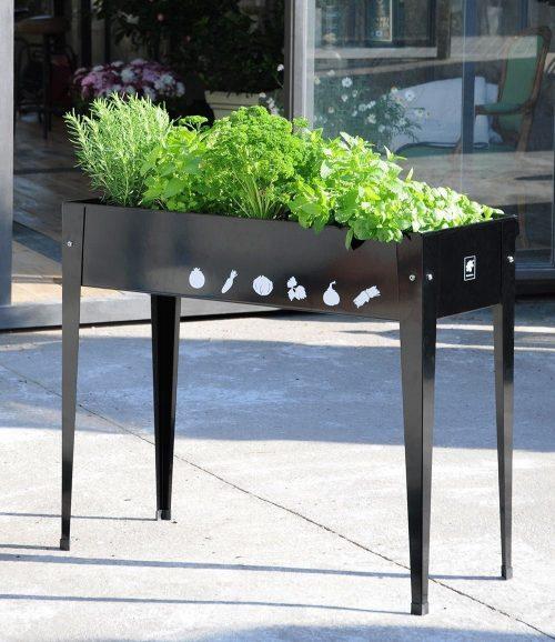 Planttafel Urban antraciet 100 x 40 x 84 cm