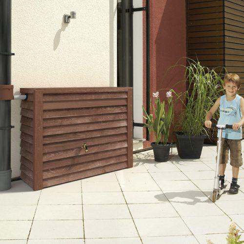 Regenbak Woody donker bruin 350 liter