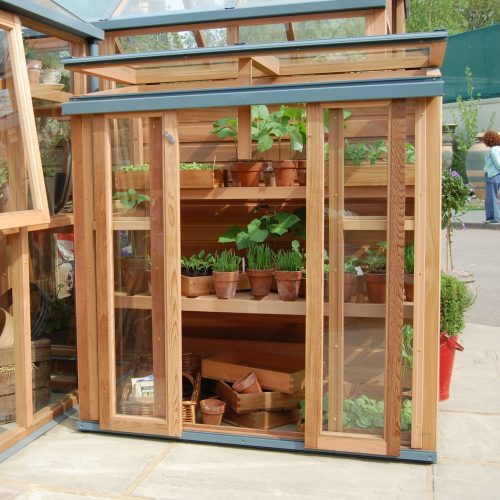 Muurkas New Cedar Garden, veiligheidsglas, incl. achterwand
