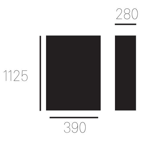 Brievenbus Allux 820, zwart