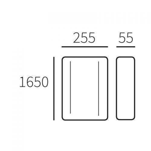 Standaard Allux 1001, zwart/verzinkt