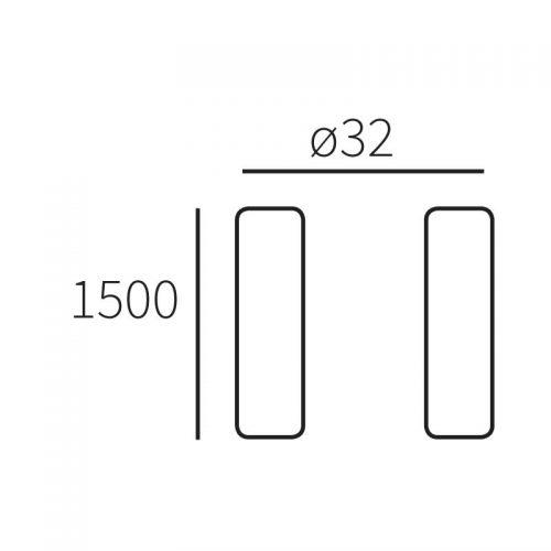 Standaard Allux 1005, antraciet