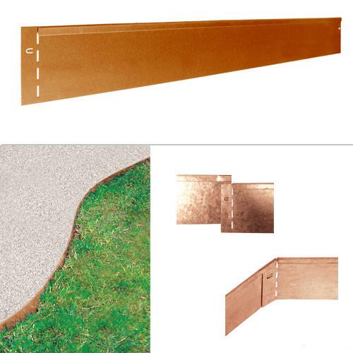 Kantopsluiting Cortenstaal 20cm