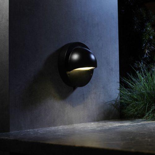 Wandlamp Deimos zwart