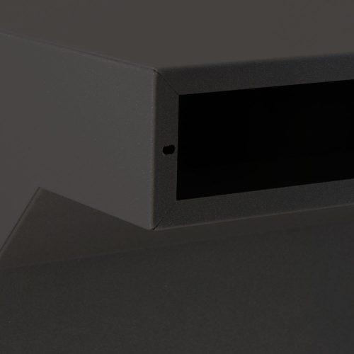 Stoer! post inbouwkast zwart 35 tot 50cm