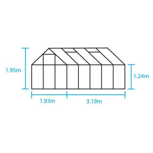 Tuinkas Popular 106, Tuinderglas, aluminium