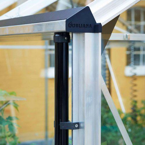 Tuinkas Premium 130, Veiligheidsglas, aluminium